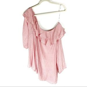 City Chic Ruffled One Shoulder Top Size 22